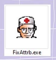 หน้าตาของโปรแกรม FixAttrb